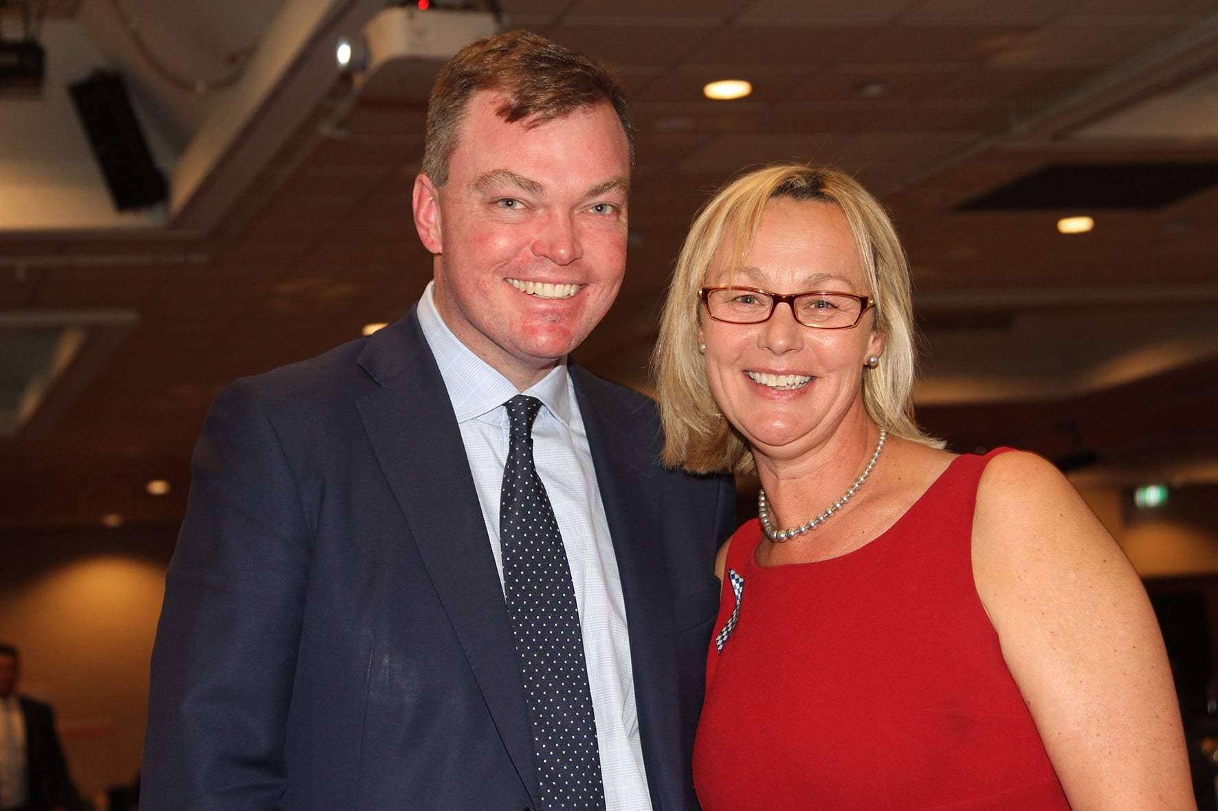 Shadow Minister for Police Ed O'Donohue & Tammy Van Wisse